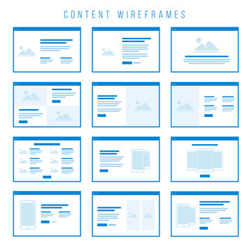 Content Wireframe components for prototypes.