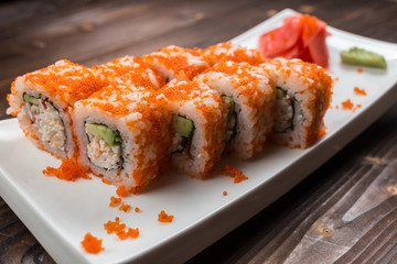 california roll, close-up