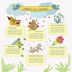 Springtime vector infographic