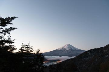 富士山 夜明け 御坂峠 雲海