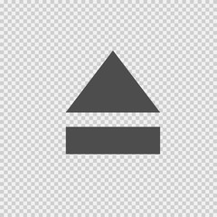Eject vector icon eps 10. Open symbol on transparent background.