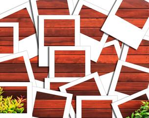 wood instant photo