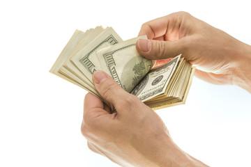 Dollar Isolated on White Ground