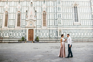 couple in love in Italy