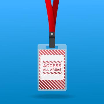 Access All Area Staff Card