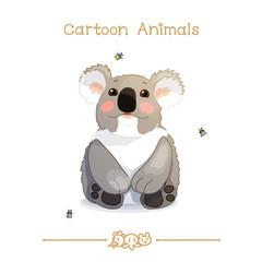 Toons series cartoon animals: lovely koala bear