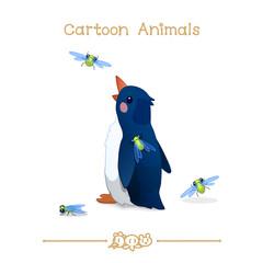 Toons series cartoon animals: abstract penguin