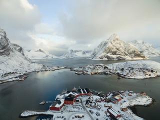 Reine, Aerial view. Lofoten Islands