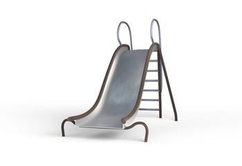 metal slide playground for children 3d illustration