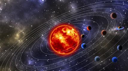 Solar System Digitally Generated Image