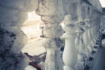 Vintage of balustrade pillars.