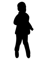 isolated silhouette of baby dancing