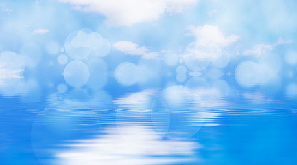 fondo azul de agua y cielo