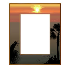 Photoframe overlooking the sea