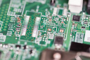 macro shot of circuit board