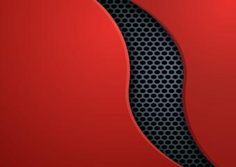 fond - métal - présentation - brochure - design - abstrait - Courbe - rouge