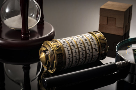 """Escape the room or escape game, is a physical game where players are locked in a room and a required to examine clues and solve a puzzles. The word """"Xcape"""" is the password for this cryptex riddle"""