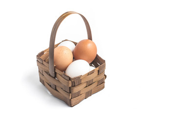 Eggs into a basket