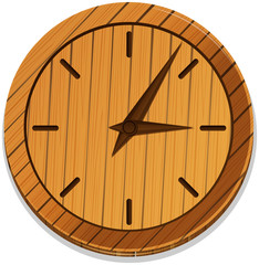 Wooden clock with no numbers
