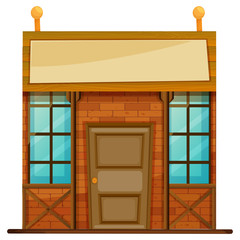 Shop with blank banner on top