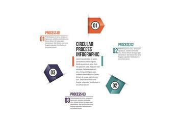 Triangular Tab Progress Infographic 1