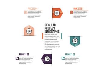 Triangular Tab Progress Infographic 2