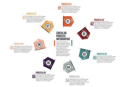 Triangular Tab Progress Infographic 5