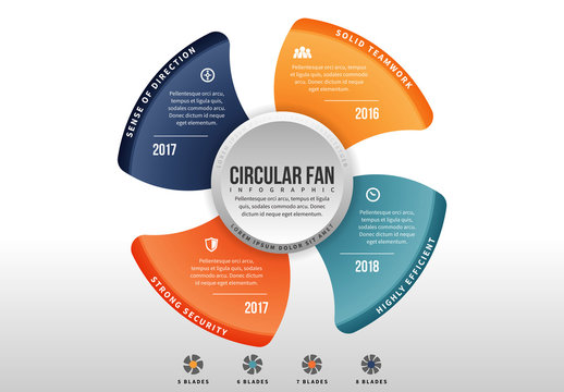 Circular Fan Infographic