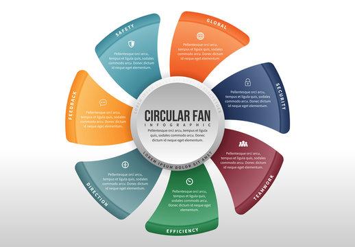 Circular Fan Infographic 3