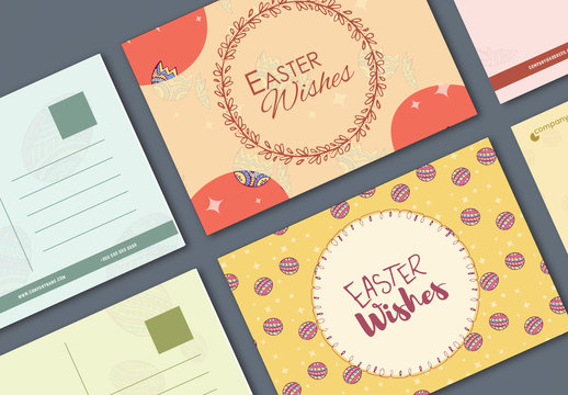 4 Easter Postcard Layouts