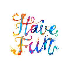 Have fun! Rainbow splash paint