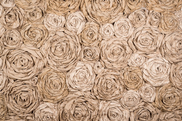 Horizontal background paper flowers
