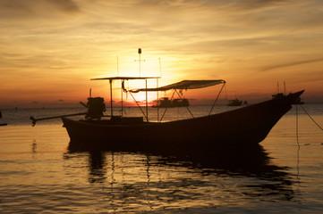 Sunrise on Koh Tao Island in Thailand