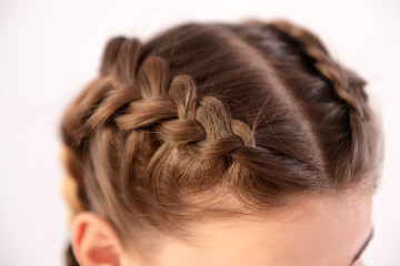 Young woman with beautiful hairstyle, closeup
