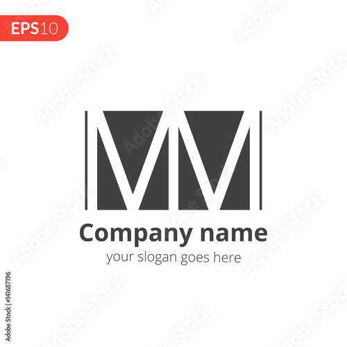 M And M Letter Logo Vector Design Abstract Business Logo