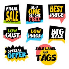 Sale super big collection label best price