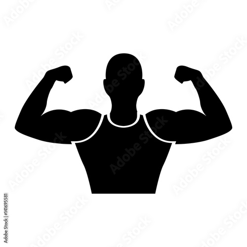 strong man human figure vector illustration design fichier vectoriel libre de droits sur la. Black Bedroom Furniture Sets. Home Design Ideas