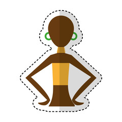 woman figure african icon vector illustration design