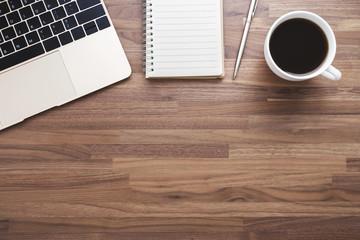 Office wood desk background