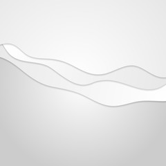 Abstract grey minimal wavy background