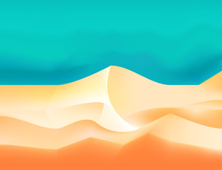 Wall Murals Green coral Desert landscape vector abstract nature background