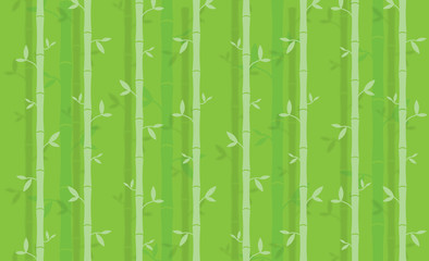 Bamboo trees background - Vector Illustration
