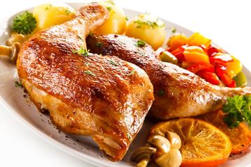 Roast chicken leg