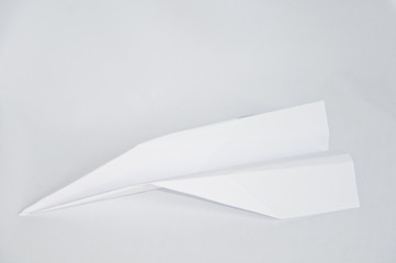 a paper Airplane on the white background