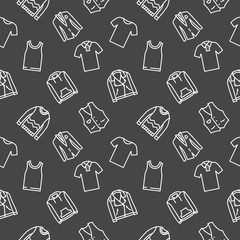 Shirt and top seamless pattern clothes