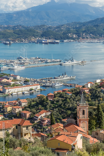 la spezia ville port arsenal ligurie italie stock photo and royalty free images on. Black Bedroom Furniture Sets. Home Design Ideas
