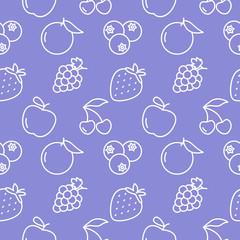 Fruits Seamless pattern background
