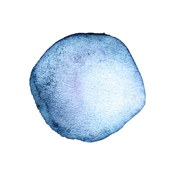 Light blue watercolor round stain abstract background