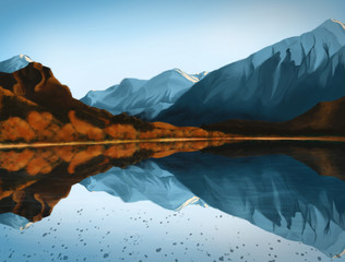 Wanaka, New Zealand - Digital Painting