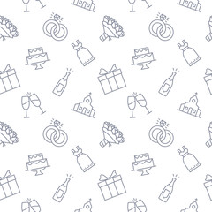 Wedding Seamless Pattern Background